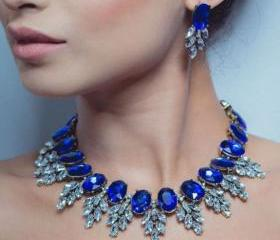 Royal Blue Necklace ..
