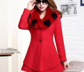 Red Wool Jacket with..
