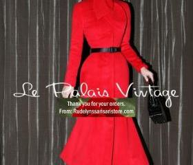 New Trendy Red Trenc..