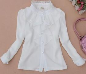 White Solid Blouse f..