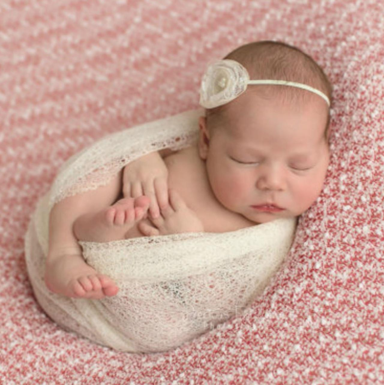 Baby Props Mohair Wraps with Matching Headband Baby Photography Props