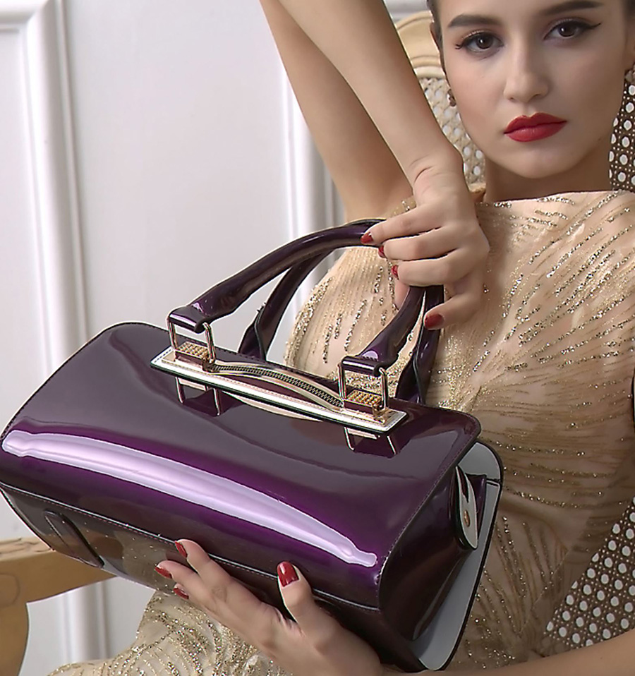 Women's Purple Handbag Purple Tote Bag Beautiful Small Purse for Party, Occasion
