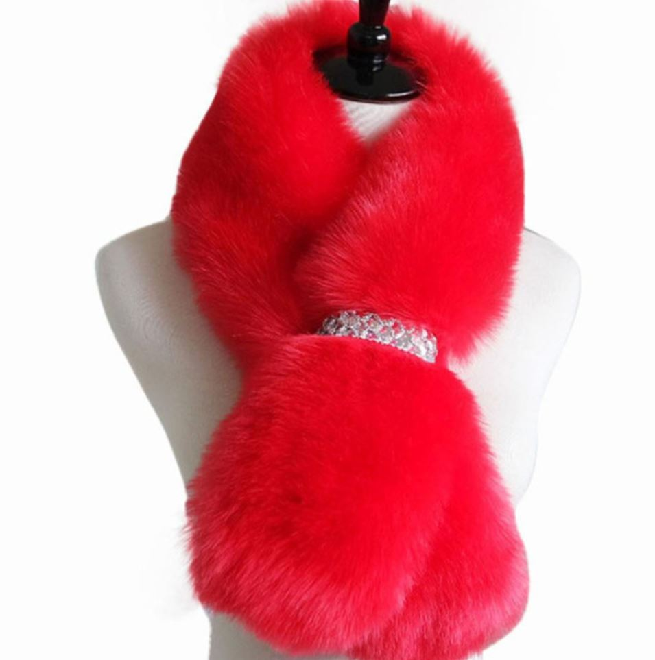 Christmas Scarves Christmas Scarf Christmas Red Outfit for Girls and Women Red Neckwarmers