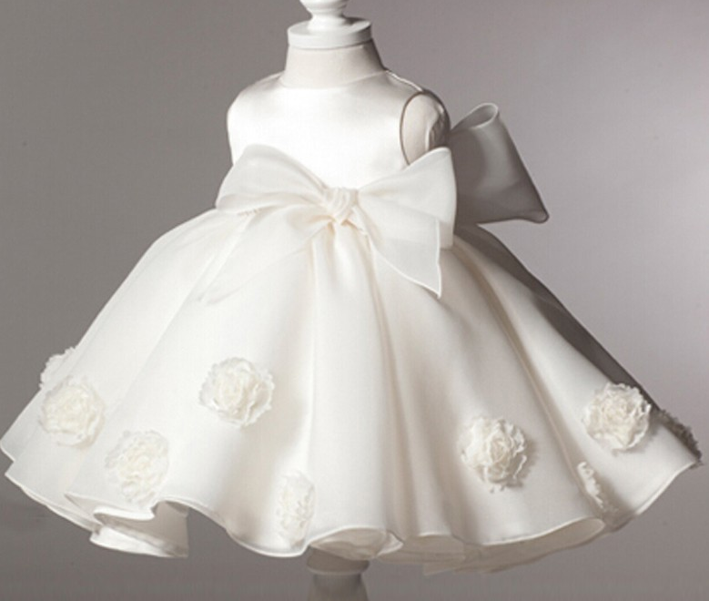 e5da1cac0e9cf Christening Dress For Infant Girls White Dress Formal Wear For Baby Girls  Flower Girls Wedding Dress