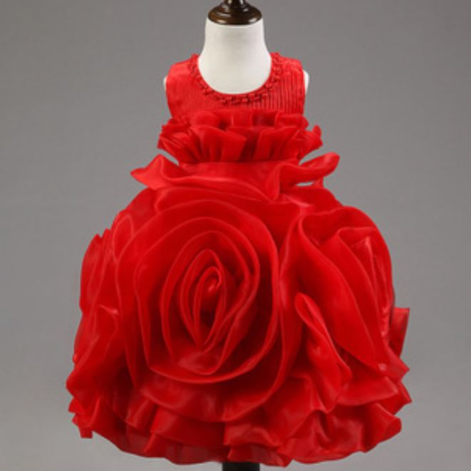 Red BallGown Dress for Girls 3t Bigger Girls Toddler Girls Red Tutu Dress  Caked Layered Dress fc92200f2b14