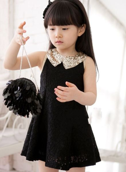 Black Dress With Golden Collar Black Lacy Dress Is Ready For