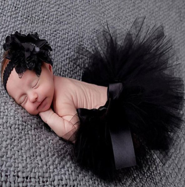 Black Dress Black Skirts Preemie Baby Dress for Baby Girls Newborn Outfit Black Skirts 0-3 Months Ready for Shipping Newborn Props