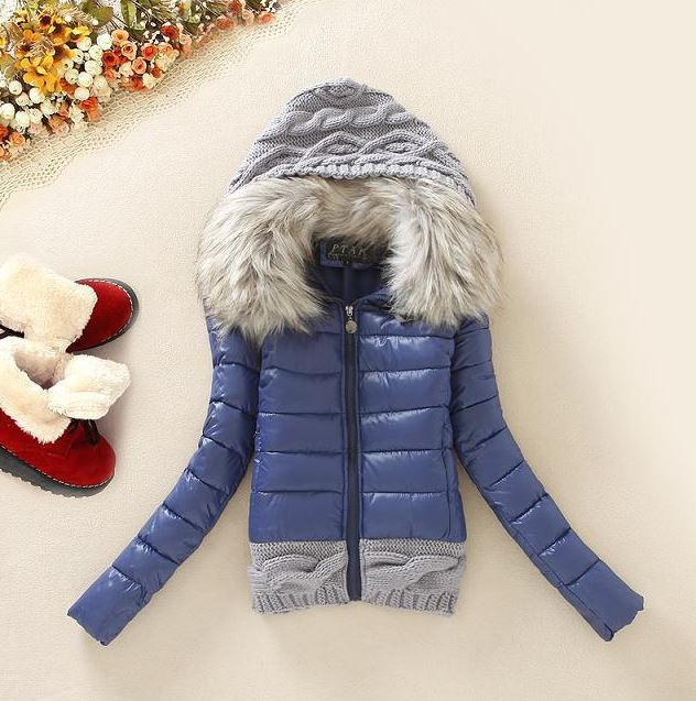 Affordable Blue Hooded Sweaters Plaid Blazer for Women Winter Jackets for Teen Girls Hooded Jacket Blue Trench Coats