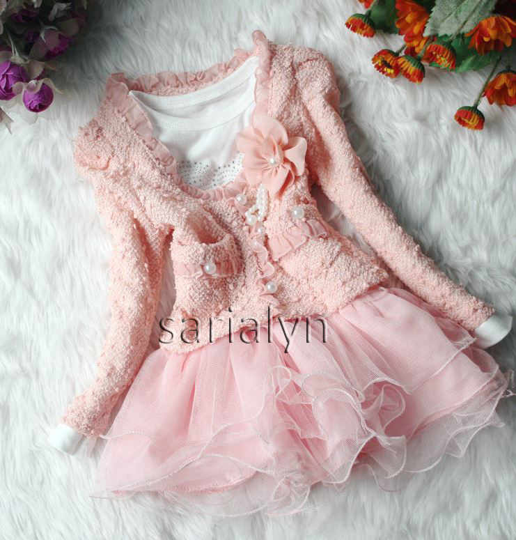 Pink Dress For Toddler Girls Pearl Wedding Dress - 2 Piece on Luulla