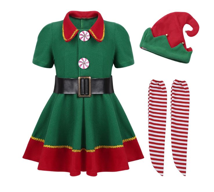 Twinning Emilia Clark Green Christmas Dress Set for Toddler Girls/ Teenage Girls Dresses