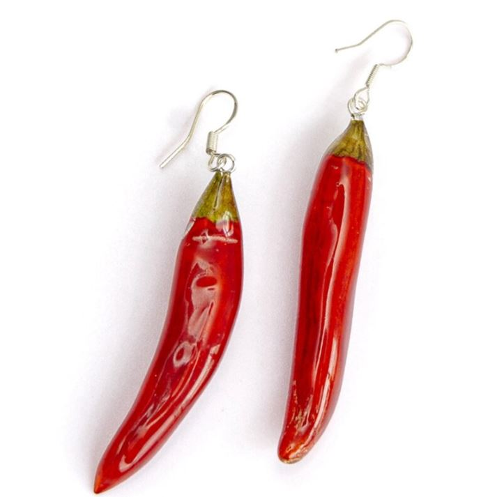 RSSLyn Red Hook Earrings Red Chili Earrings Fashion Hot Chili Drop Earrings For Women New Red Earrings-Glazed Enamel Earrings
