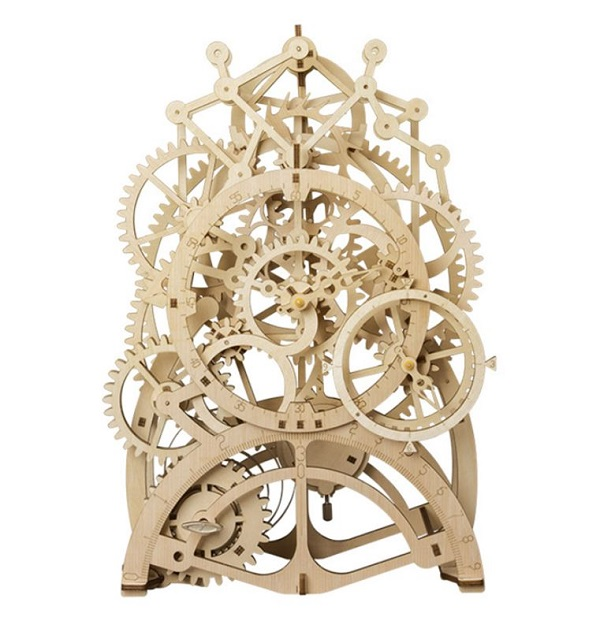 Rsslyn Mechanical Pendulum Clock Model Kits Time Puzzle for Brainy Child RSS9-3032021 Wooden Puzzles