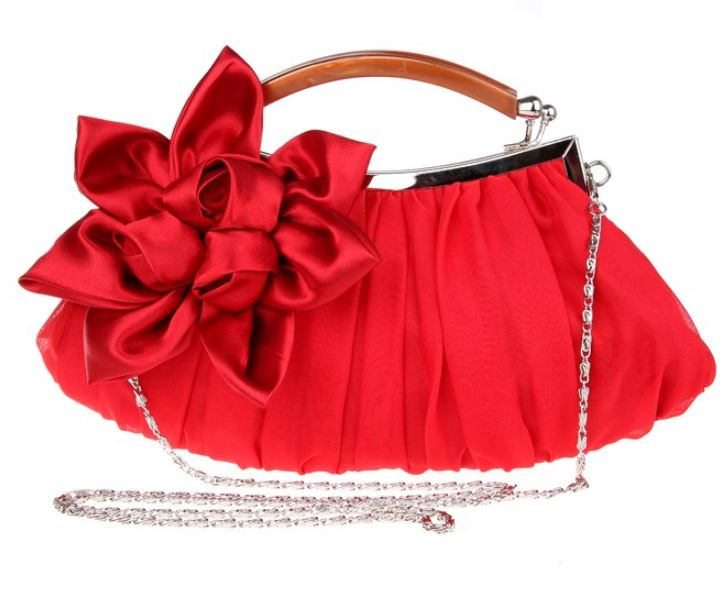 Red Clutch for Women Ready to Ship Bridesmaids Shoulder Bags