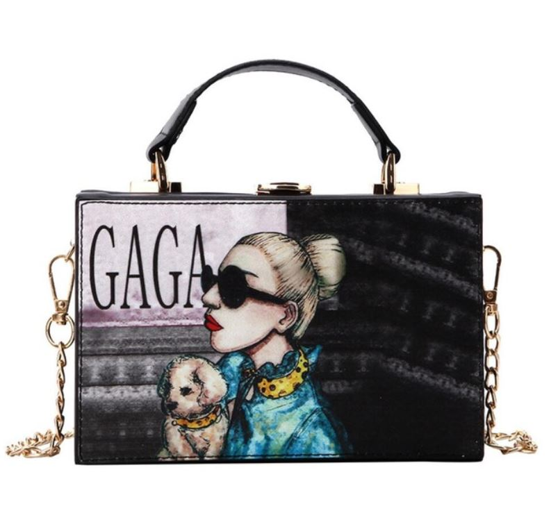 Vogue Lady Gaga Square Purse Lady Gaga Shoulder Bags for Women Fashion Trendy Bags