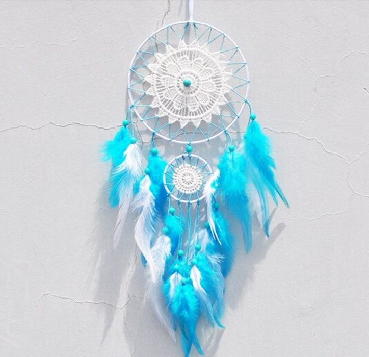 Room Decoration for Newborn Girls and Boys Dream Catcher Hanging Decoration-Turquoise Blue Dream Catchers
