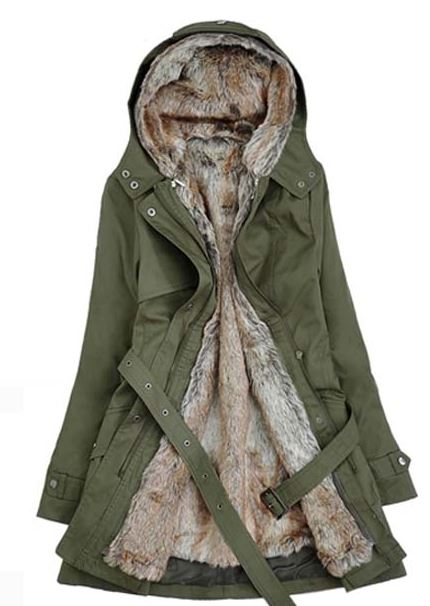 Coats and Jackets Ready to Ship Green Down Parka Jackets