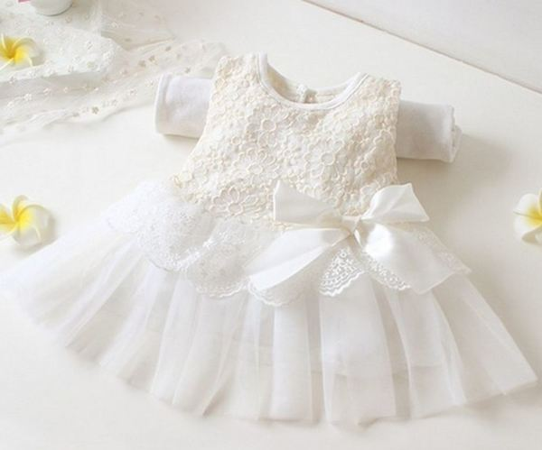 0ab47944feb3 White Tutu Dress For Newborn Girls Christening Dress Lace on Luulla