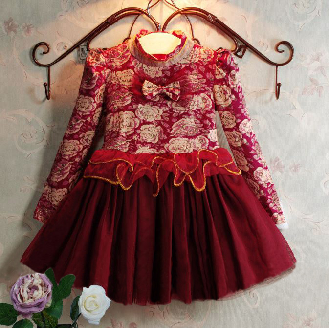 Red Christmas Dress for 4T Birthday Party Dress Sparkly Girls Dresses