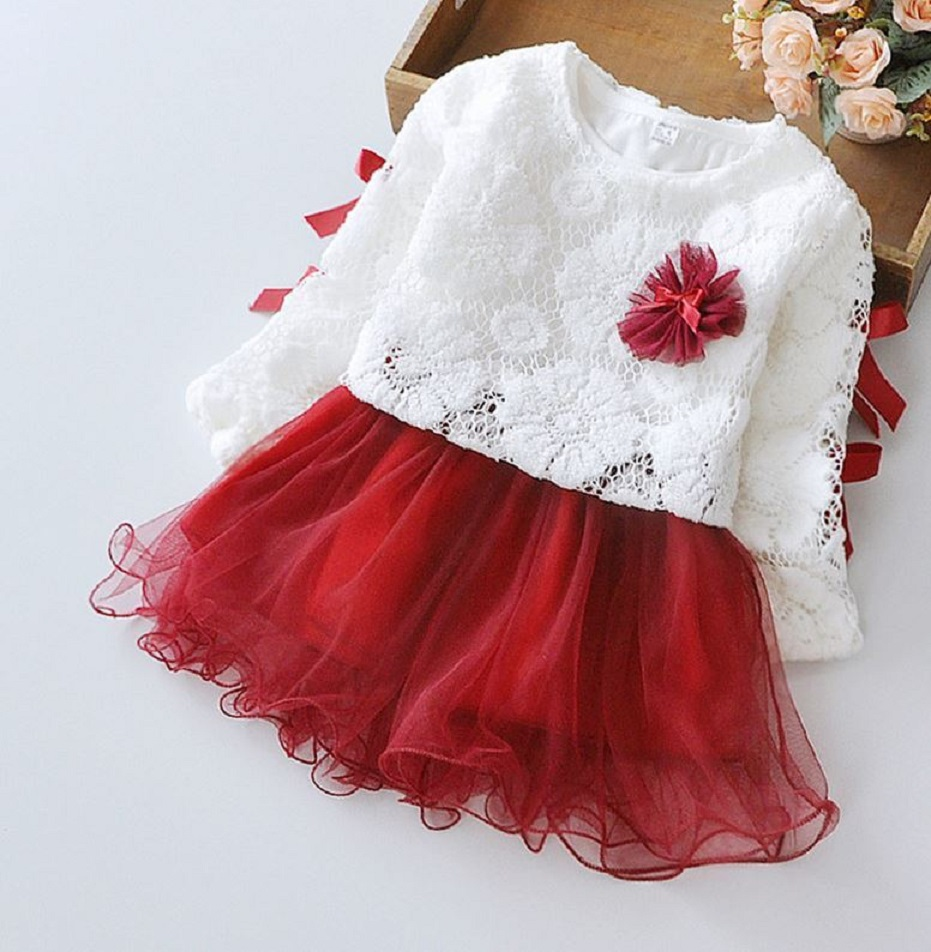 Red Tutu Dress for Girls 3T Red Cardigan Red Long Sleeved Dress Christmas Red Dress