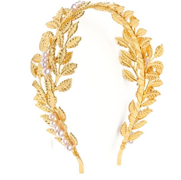 Golden Tiaras for Girls Teen Girls Bridal Golden Leaves Tiaras Crowns Leaf Novelty