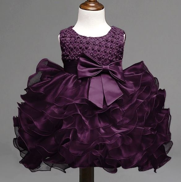 3-6 Months Purple Dress 6-9 Months Purple Tutu Dress 9-12 Months Wedding Dress Tiered Fluffy Dress