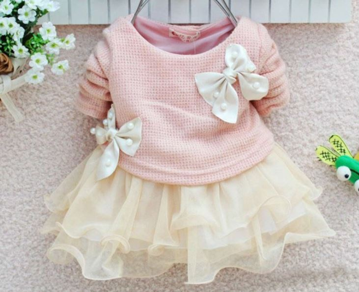dc0aba0dbd3c 0-3 Months Pink Newborn Girls Dress Baby Shower Gift Spring Newborn ...
