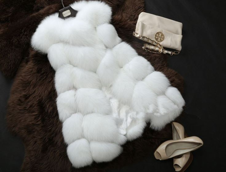 White Vest for Women Fur Vest