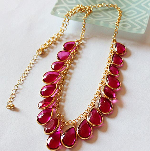 New Fashion for Women Hotpink Accessories Wholesale Party Chokers Tassel Gorgeous Necklaces for Women