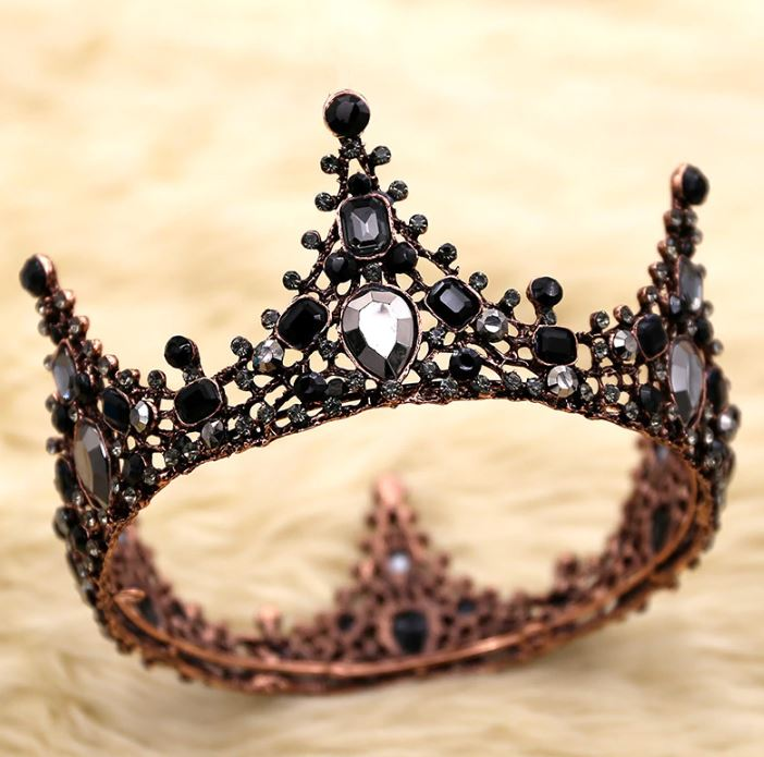 Black Crowns and Tiaras for Women and Girls Tiaras That Fits All-Black Headpiece a Wicked Queen