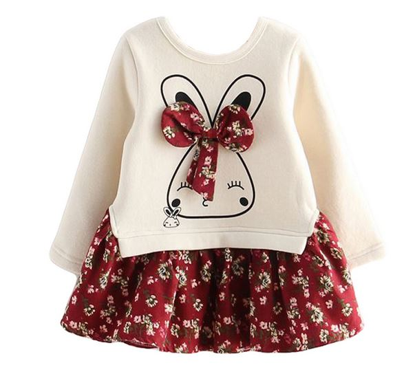 Red Tutu Dress with Sweater Printed Skirt Dress for Girls 3t,4t,5t,6t,7t