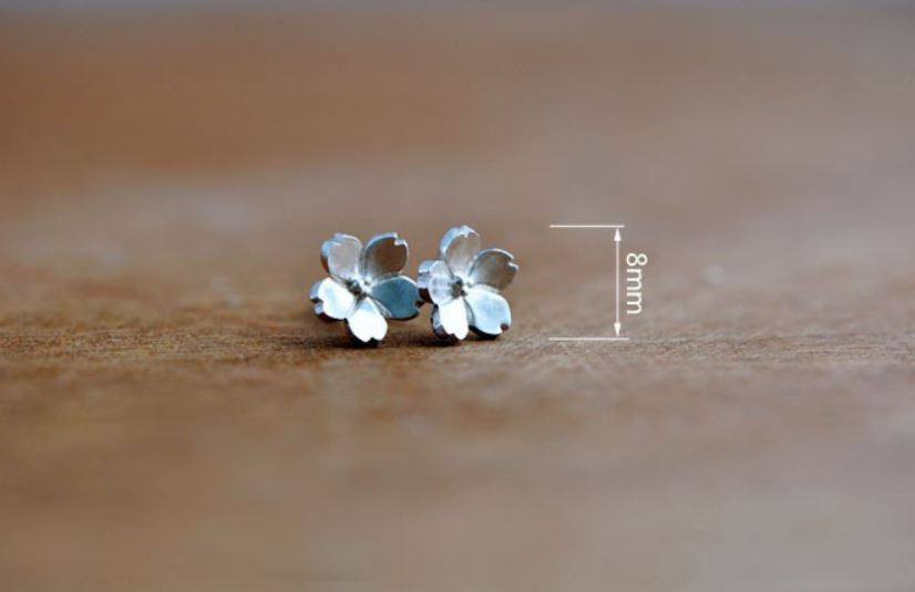925 Sterling Silver Earrings Stud Daisy Flower for Teens and Women
