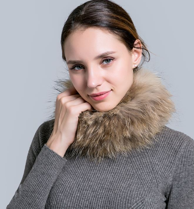 Fur Scarves for Women Fashion Winter Scarfs for Women Brown Neck Warmers