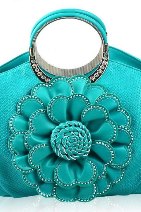 Blue Tote Handbags for Women Turquoise bags Turquoise Color Tote bags for Women Floral Aqua Blue Purses