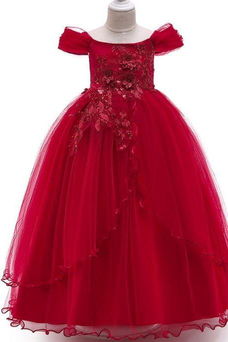 RSS Boutique Ankle Length Red Tutu Dress Princess Saria's Gown Red Ballgown Outfit FREE Tiara