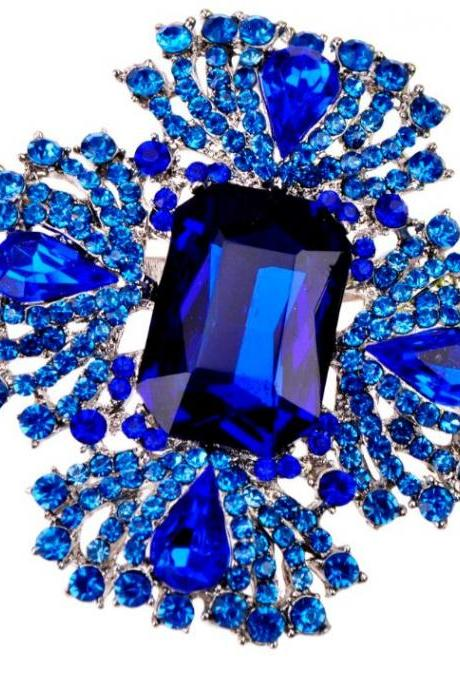 Royal Blue Brooches for Men-Unisex Pins and Brooch Fashion Jewelries for Wedding Accessories