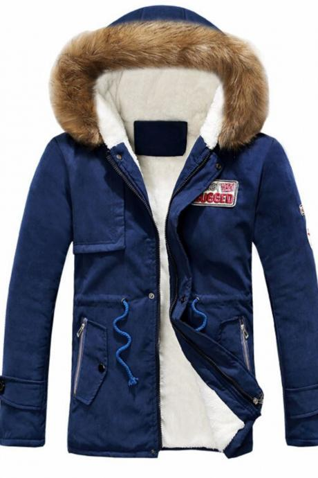 Unisex Parka Jacket with Hood Blue Parka for Men and Women High Quality Blue Jackets