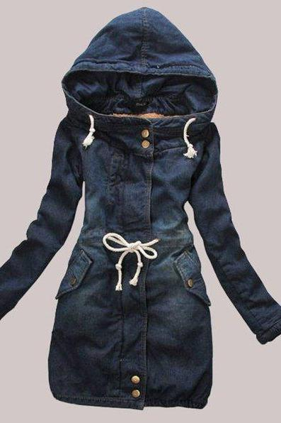 Plus Sizes Denim Jacket for Women Denim Blazer Style Denim Jackets Turn Down Collar Coat Women Basic Coat XL-5XL