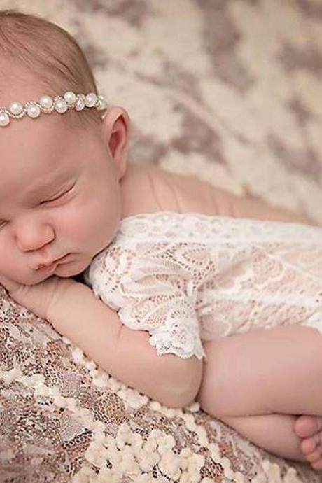 Baby Shower Gifts Laced Baby Swaddle Dress White Romper White laced Dress Photography Props