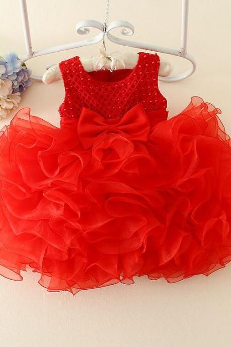 9 Months Red Tutu Dress with Matching Red Headband for Girls