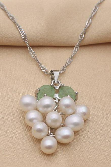 Fashion Elegant Pearl Pendant White Pearl Necklaces for Women 925 SS