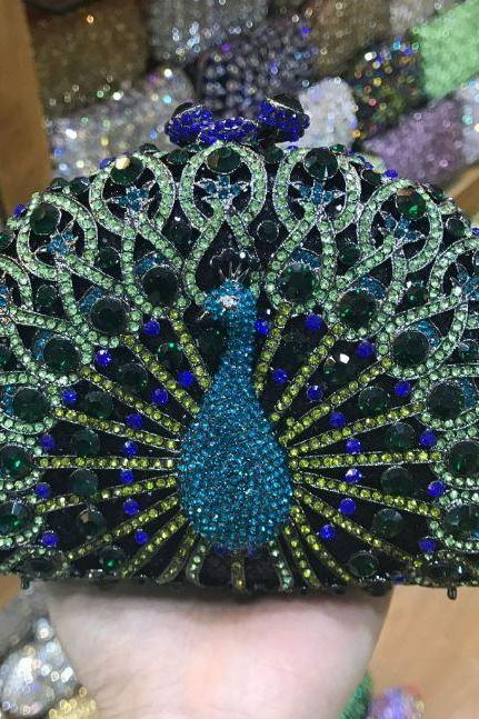 Peacock Clutch for Women Good Deal Bags and Purses RSS 2018 High Quality Multicolor Peacock Bags