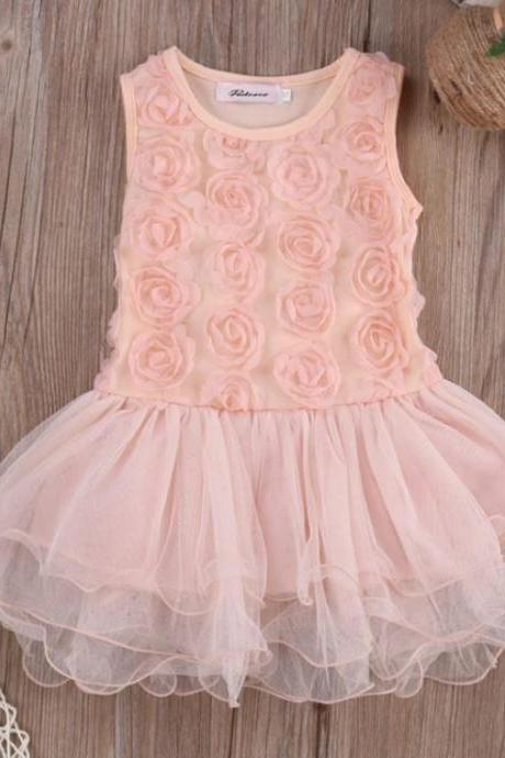 Peach Dress Pink Peach Tutu Dress for Girls Rosette Ready for Shipping