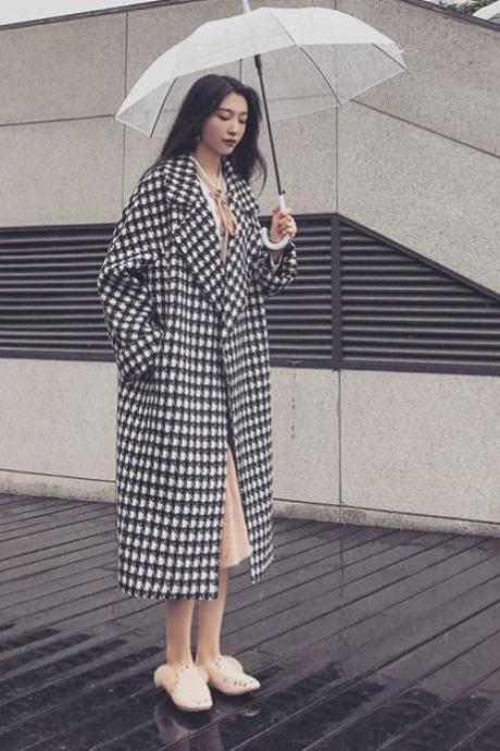 Black Winter Coats Black Houndstooth Blazers for Women Winter Jackets for Women