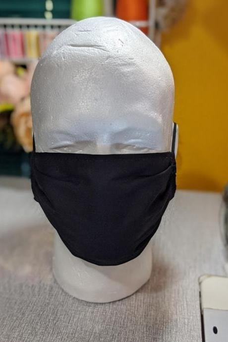 Black Mask for Men Washable Masks Mouth and Nose Covering Handmade Black Ninja Mask