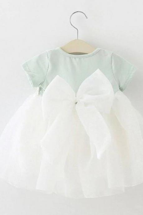 Mintgreen Baby Girls Dress Summer Dresses Mint Green Cotton Dress 3 Months,6 Months,9 Months, 12 Months Tutu Dresses