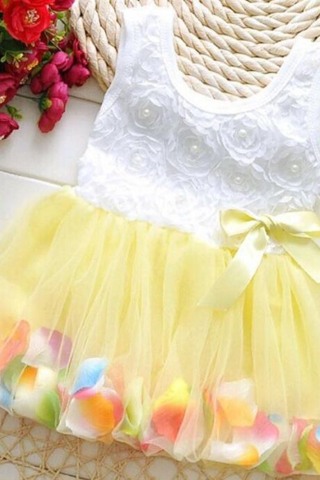 Yellow Dress for Girls Easter Dresses Easter Yellow Dresses Sleeveless Yellow Dress 3 Months Yellow Dress