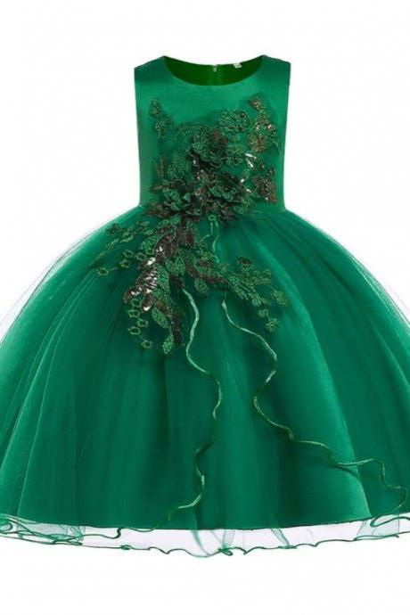 FREE Tiara for Green Tutu Dress Green Christmas Dress for Little Girls