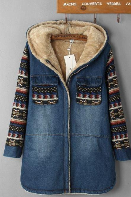 Warm Denim Jackets for Women Very Thick Warm Lining Perfect for Winter Cold Snowy Weather