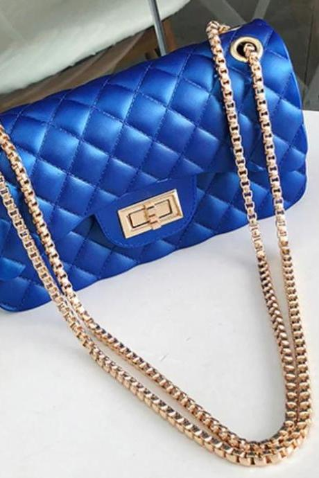 Royal Blue Bag On Hand READY TO SHIP Blue Purses for Women Pu Leather Bags