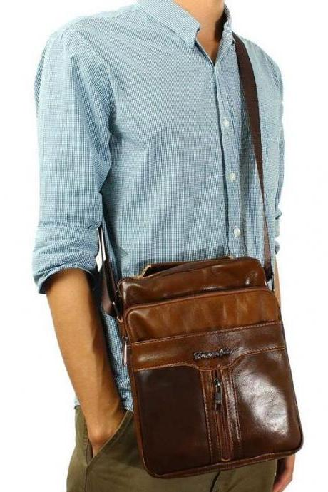 New Arrival Genuine Leather Men Shoulder Bags